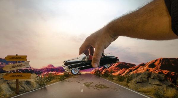 Diorama DHL Cenário Highway
